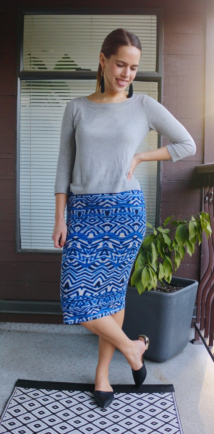 Jules in Flats - How to wear a Midi Skirt to Work
