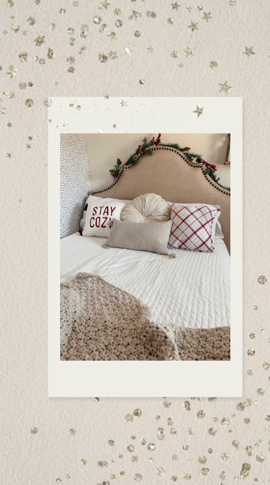 How I Decorated My Bedroom For Christmas 2019 | Affordable by Amanda Home Decor for The Holidays Inspiration Under $100