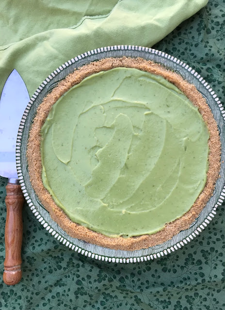 Lime avocado coconut pie.