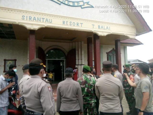 Pengamana Perayaan Missa Paskah DIwilayah, Personel Jajaran Kodim 0208/Asahan Laksanakan Patroli Bersama Dinas Terkait