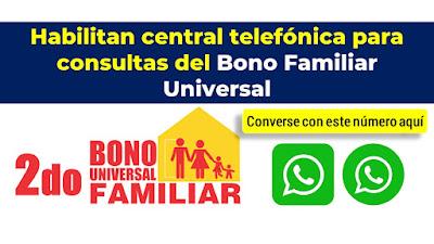 Habilitan linea telefonica para Bono Familiar Universal en el Banco de la Nación