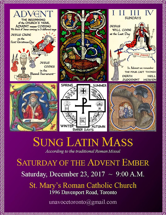 """ADVENT EMBER SATURDAY"" Traditional Latin Mass in the Archdiocese of Toronto"