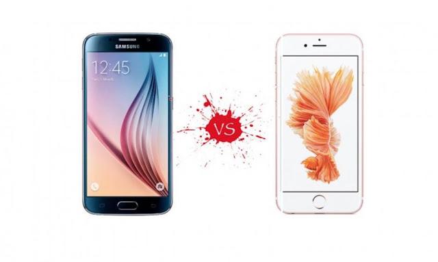galaxy s8 vs iphone8
