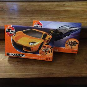 Airfix QuickBuild Hawk and Lamborghini
