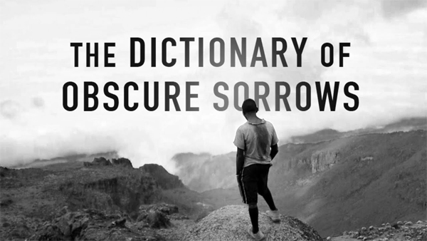The Dictionary of Obscure Sorrows, dicionario John koenig