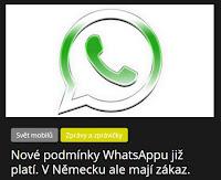 Nové podmínky WhatsAppu již platí. V Německu ale mají zákaz. - AzaNoviny