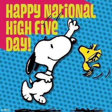 National High Five Day Wishes for Whatsapp