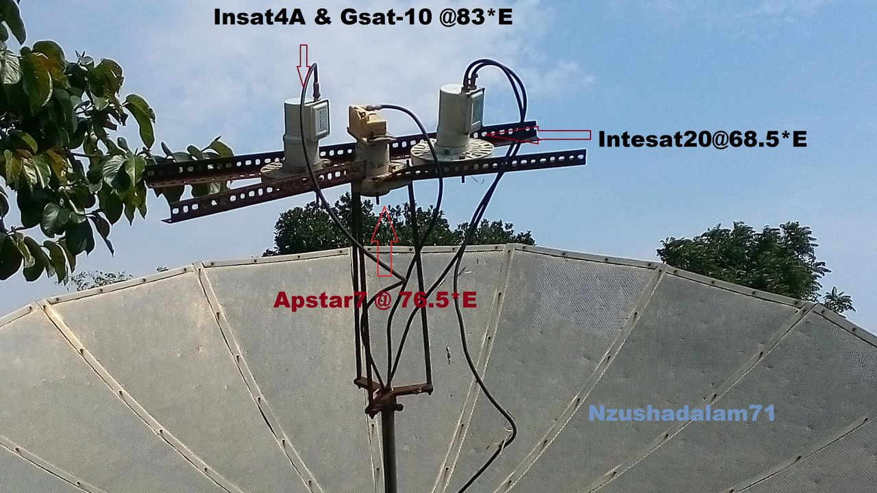 APSTAR 76 5 EAST WITH 2 MORE SATELLITE SIN ONE 8 FEET DISH
