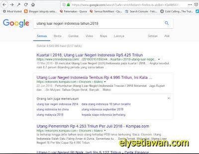 hutang luar negri indonesia 2018