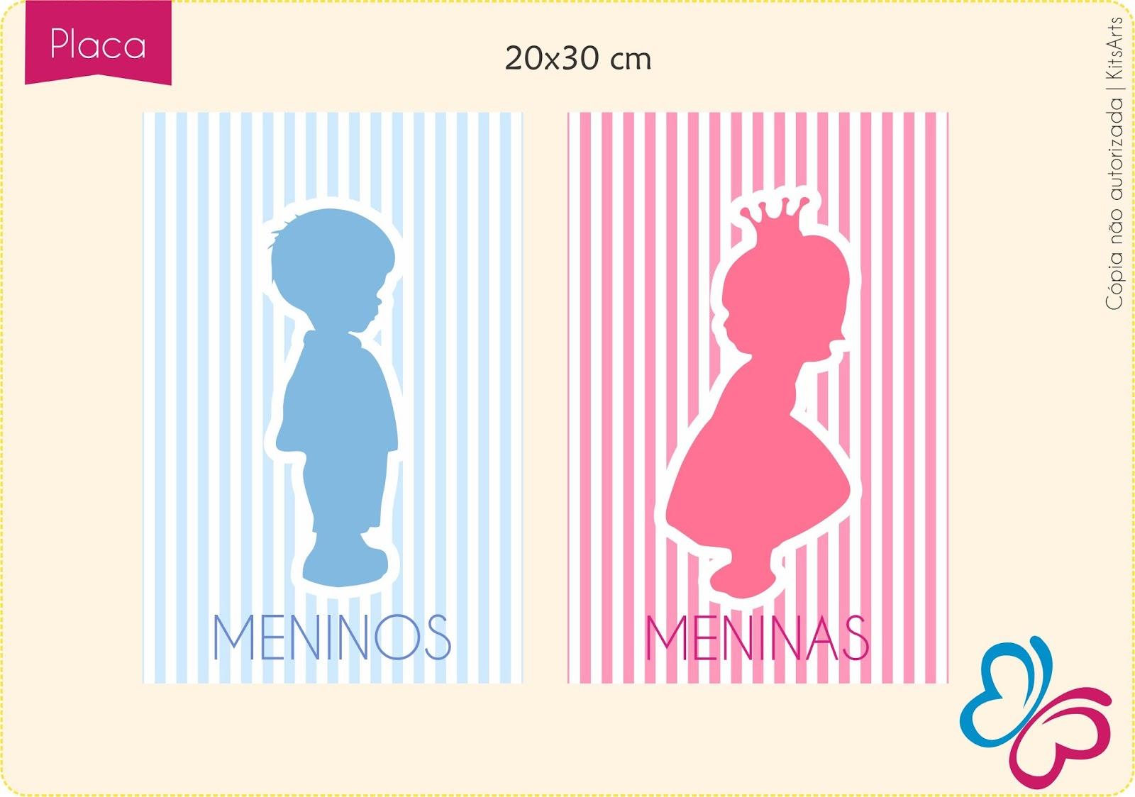 Michelle: Plaquinhas de banheiro para escola (meninos e meninas #BE0250 1600 1124