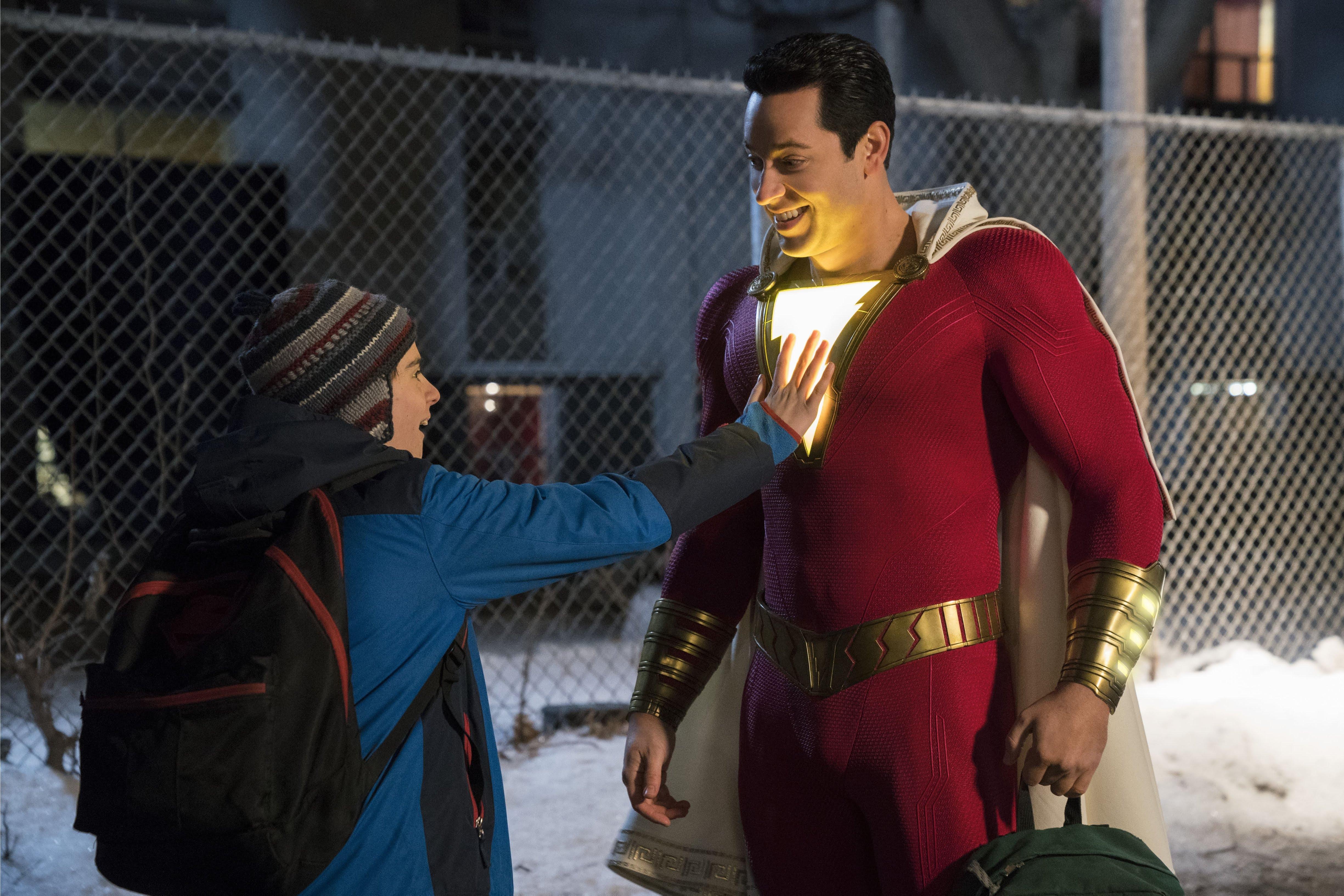 Shazam! : 本日このあと、新しい予告編をご覧頂く予定のDCコミックスのヒーロー映画「シャザム」の新しいポスター ! !