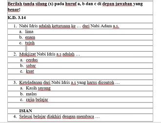 Download Contoh Soal Pts Pai Dan Bp Kelas 2 Semester 2 Kurikulum 2013 Tahun 2020 Info Pendidikan