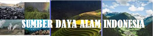 Potensi, Pengertian dan Jenis Sumber Daya Alam Indonesia