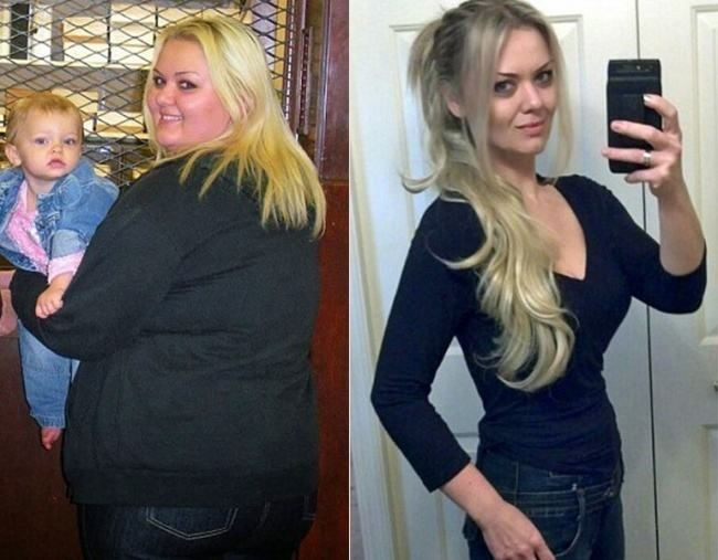 #17. Albina spent a lot of years being bullied by her now ex-boyfriend over her obesity. - 23 Inspirational Before/After Photos Of People Who Can Say 'I Did It.'