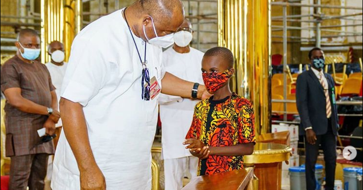 Imo Governor Uzodinma Meets With His Adopted Son....