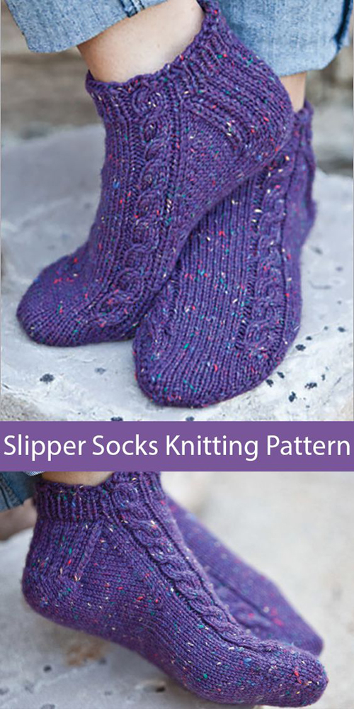 Pavo Slipper Socks - Knitting Pattern