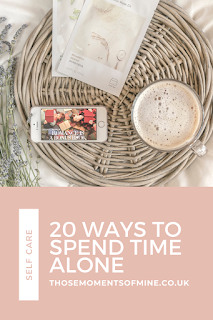 pinterest pin for 20 ways to spend time alone