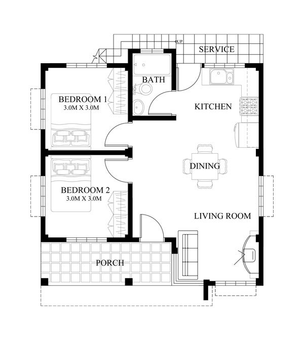 Two Story Tiny House Plan: THOUGHTSKOTO