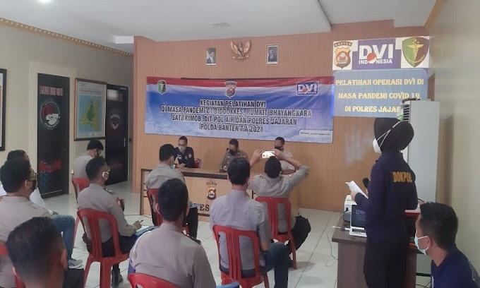 Gelar Pelatihan Disaster Victim Identification, Wakapolres Serang Minta Seluruh Personel Bisa Mengaplikasikan di Lapangan