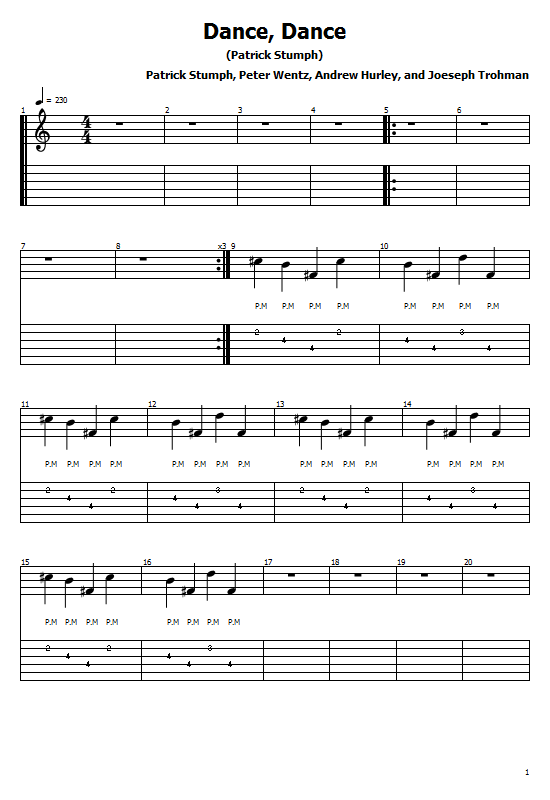 Dance, Dance Tabs Fall Out Boy. How to Play Dance, Dance On Guitar,Fall Out Boy - Dance, Dance Tabs / Fall Out Boy Chords. Fall Out Boy - Dance, Dance