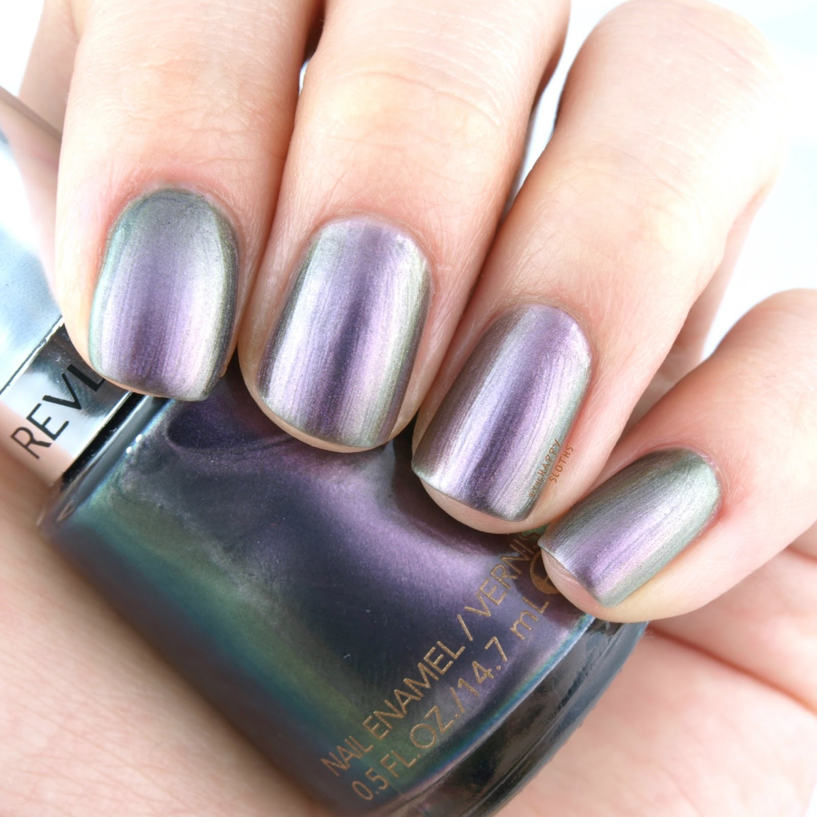 "Revlon Holochrome Nail Polish Collection in ""120 Amethyst Smoke"": Review and Swatches"