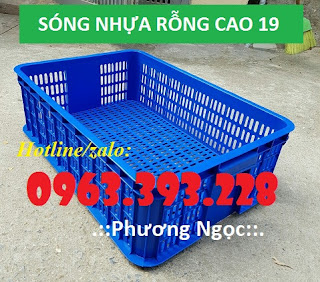 Sọt nhựa đựng hàng hóa, sóng nhựa cao 19, sọt đựng nông sản 5d1760a2e213004d5902