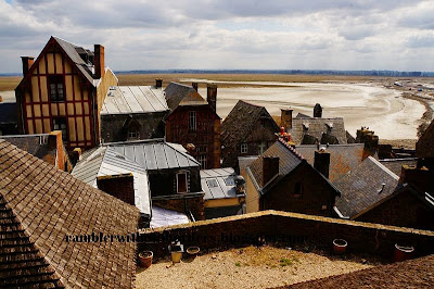 Village in Mont Saint Michel, Normandy, France, Europe
