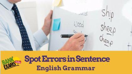 grammar error