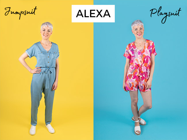 Alexa jumpsuit and playsuit sewing pattern