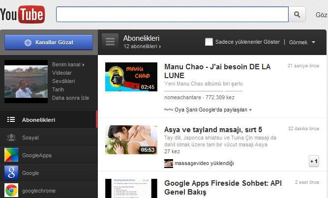 Sitene Youtube Playlist Ekle