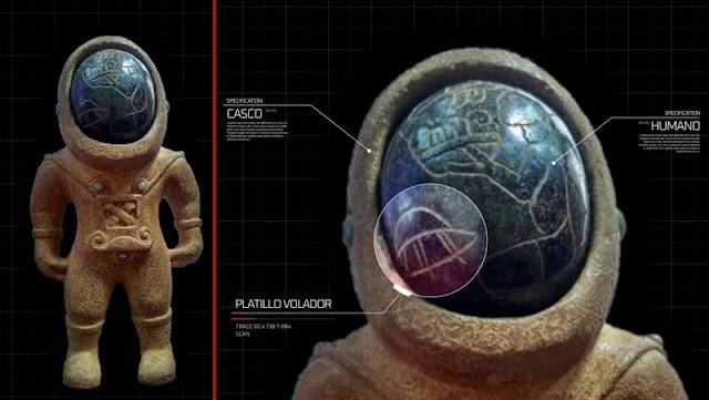 Αρχαίο άγαλμα αστροναύτη τριών χιλιάδων ετών που βρέθηκε στην Καππαδοκία της Ανατολίας ? (σημερινή Τουρκία)
