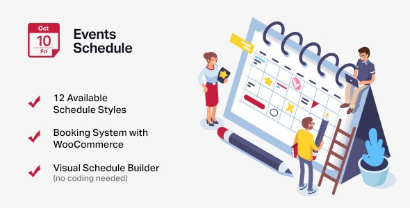 Events Schedule v2.5.13 – Events WordPress Plugin Nulled