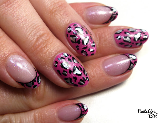 Nail Art - Panthère Rose super facile 100% au vernis par Nails Arc en Ciel