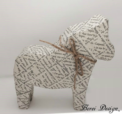 DIY Craft Tutorial: How to make a recycled Swedish dala horse or dalahast