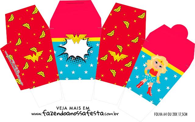 Blondie Wonder Woman Free Printable Boxes.