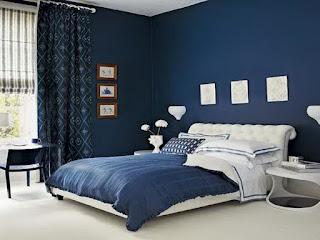 desain kamar tidur anak Navy Blue and White Bedroom