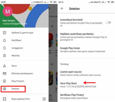 cara update aplikasi play store