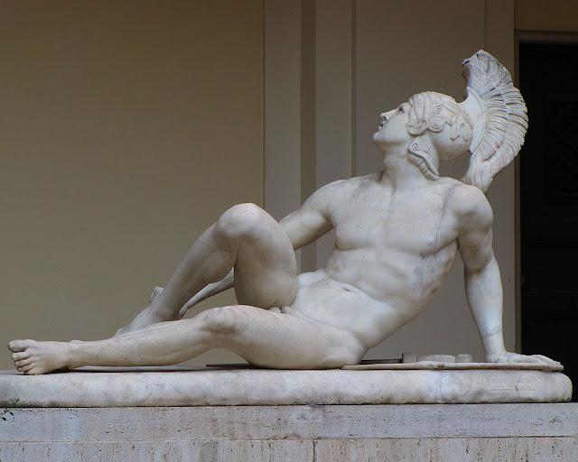 Sculpture in a courtyard, Via della Stamperia, Rome
