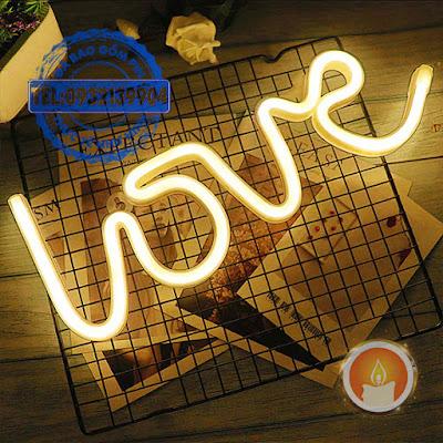 Đèn led hình chữ love