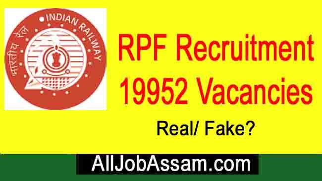 Fake RPF Constable Recruitment 2020 - Claiming 19952 Vacancies in IR
