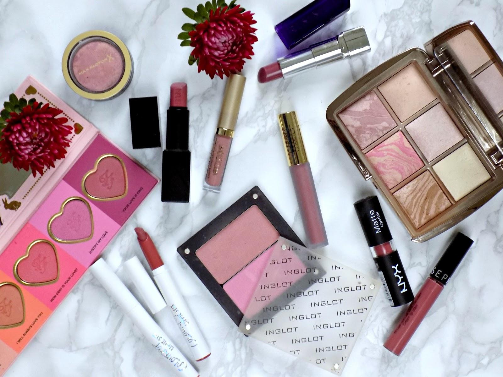Mauve lipsticks and blushes for Autumn