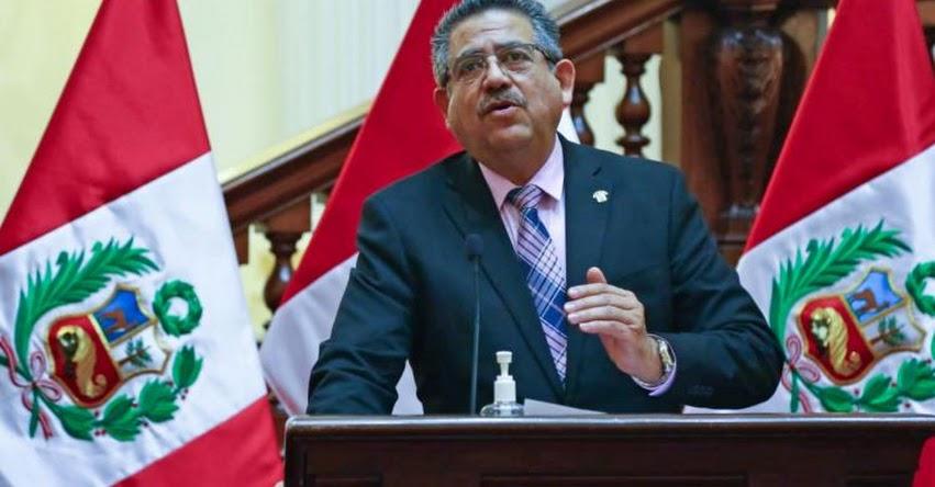 Manuel Merino asegura que se mantendrá fecha de elecciones generales 2021
