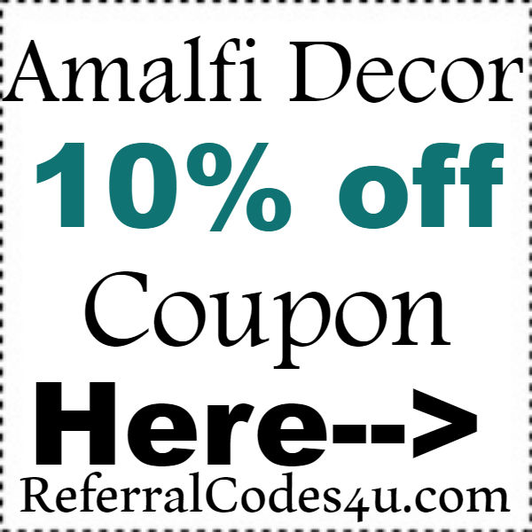 Amalfi Decor Discount Code 2016-2017, Amalfi Decor Coupon October, November, December