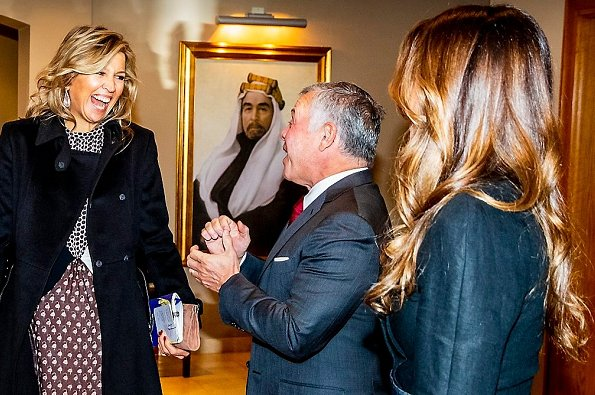 Queen Maxima met with King Abdullah II and Queen Rania at Amman Royal Palace