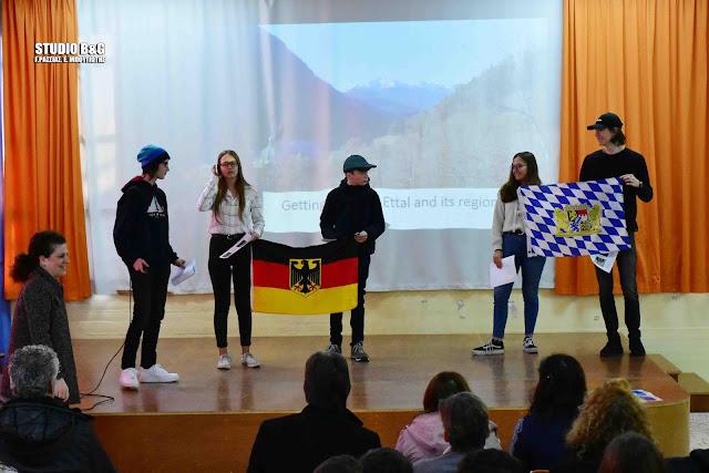 Το 1ο Γυμνάσιο Ναυπλίου υποδέχθηκε 20 μαθητές και 14 καθηγητές από Ευρωπαϊκά σχολεία