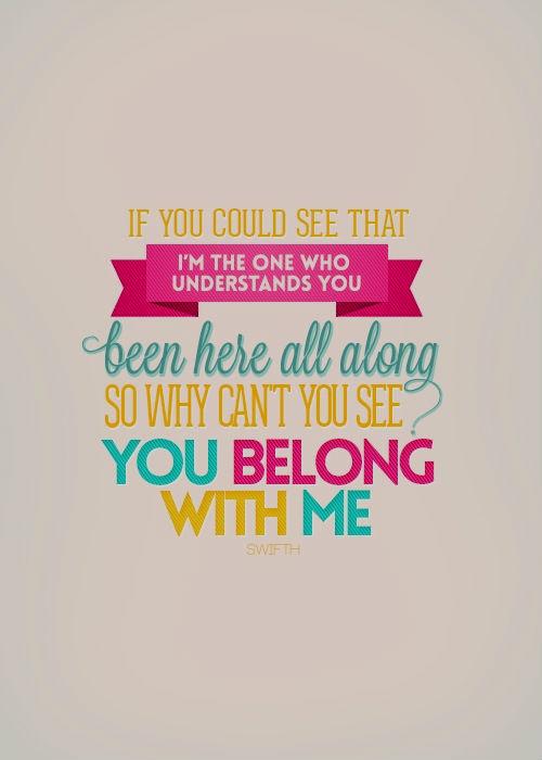 You Belong With Me Lyrics Taylor Swift