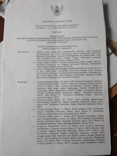 Contoh gambar surat keputusan kepala desa