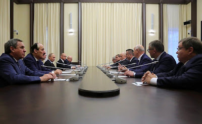 Meeting with former Russian regional leaders in the Kremlin.