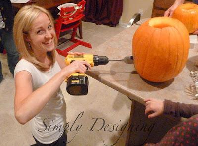 Drill Pumpkin 04 I gave a Rhinoplasty to a Pumpkin with a Drill 19