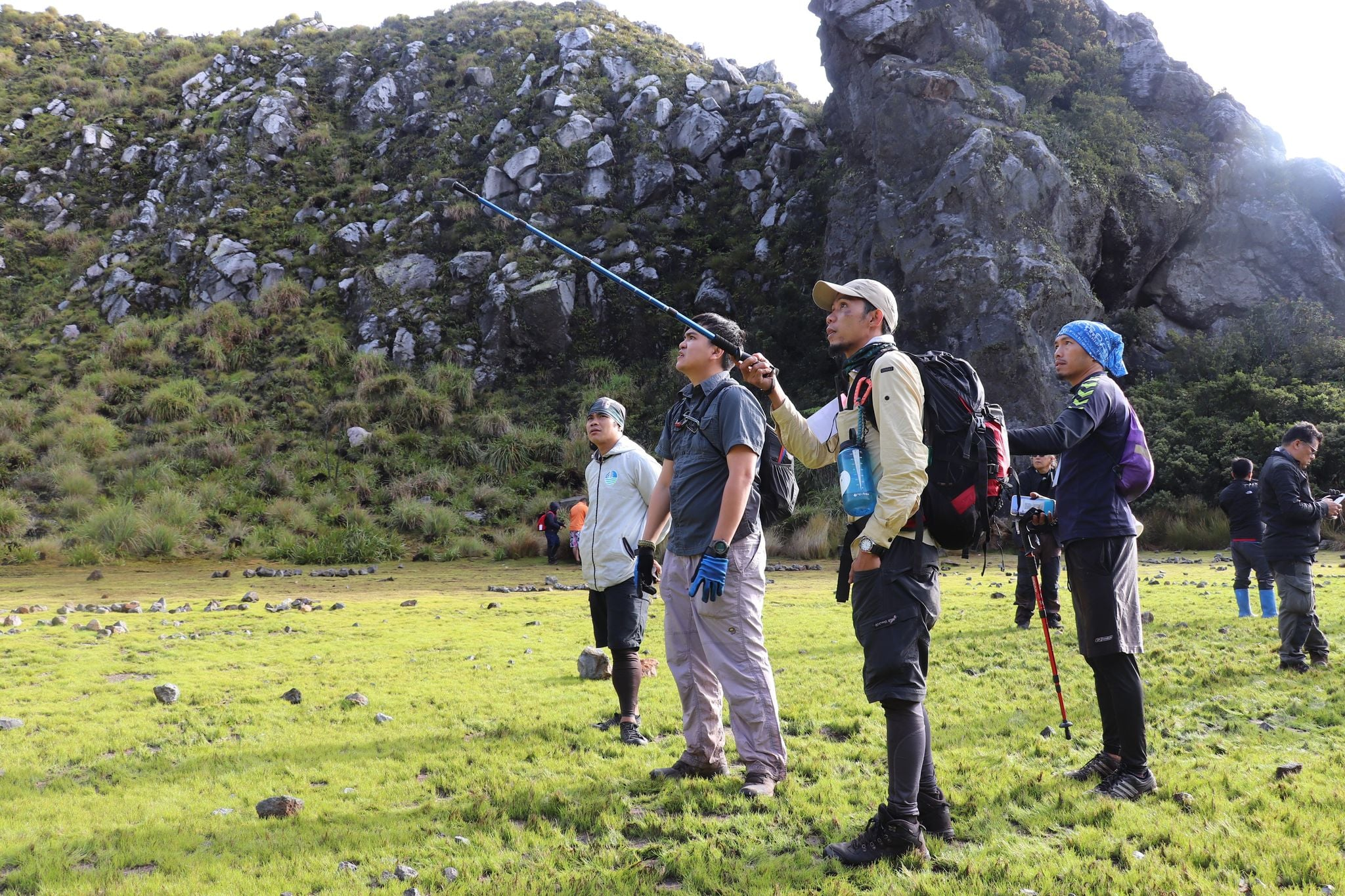 DENR Team climbing Mt. Apo to personally observe and assess the condition of the mountain